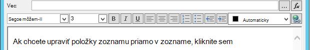 Definovanie e-mailovú správu obrazovky po vložení premenná