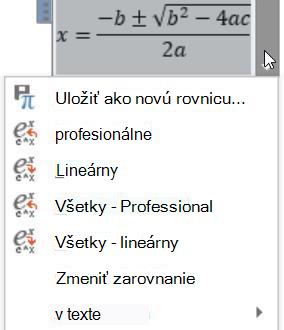 Obrazovka profesionálne a lineárne možnosti