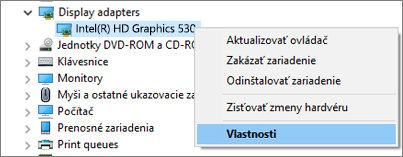 Ak chcete spravovať ovládače grafických adaptérov, prejdite na Správcu zariadení systému Windows.