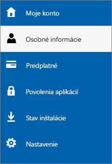 Aktualizácia osobných informácií správcu