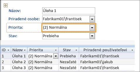 Vytvorenie zobrazenia sprogramom Microsoft Access