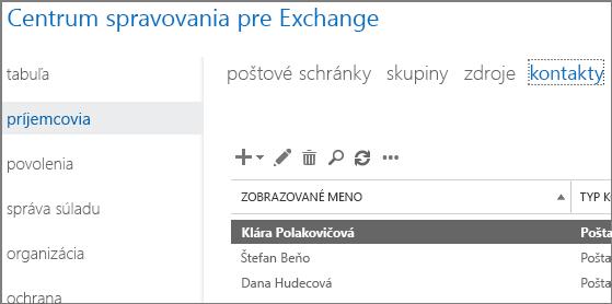 Zobrazenie kontaktov s cieľom odstránenia chyby DSN 5.7.136