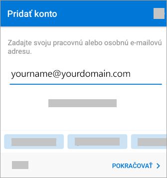 Zadajte svoju e-mailovú adresu.