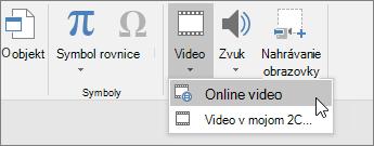 Pridanie videa na snímky