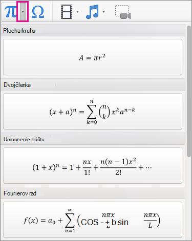 Vstavané rovnice