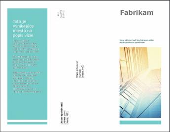 Šablóna brožúry v PowerPointe Online