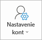 Tlačidlo nastavenia konta Outlooku