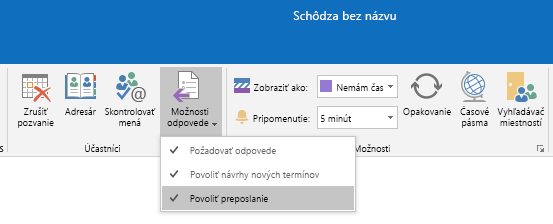 Povolenie možnosti preposielania v Outlooku