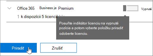Odstránenie licencií