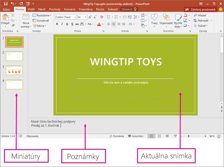 Normálne zobrazenie v PowerPointe