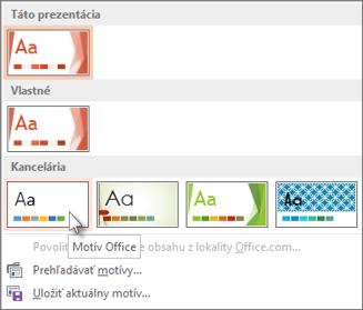 Výber Motívu Office