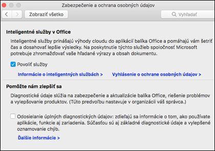 Povolenie inteligentných funkcií v Macu