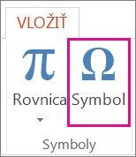 Vloženie symbolu