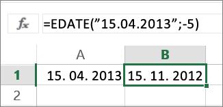 Odpočítanie mesiacov od dátumu