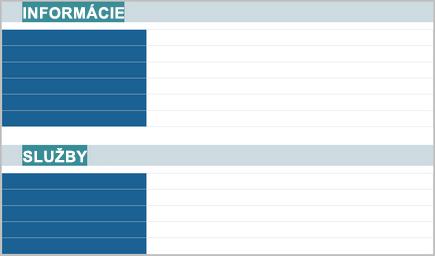 Schematický obrázok profilového hárka