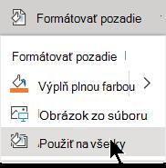 Tento formát použite na všetky snímky v prezentácii.