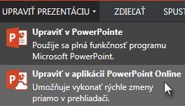 Otvorenie vPowerPointe Online