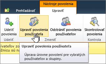 Upraviť povolenia používateľov