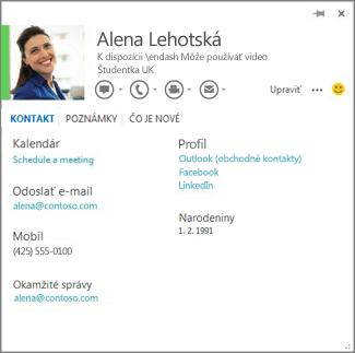 Príklad karty kontaktu, ktorú možno vo Worde otvoriť kliknutím na fotografiu komentujúceho.