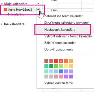 Nastavenia Google Kalendára