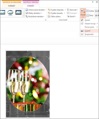 Obrázok s použitím orezania na vyplnenie tvaru