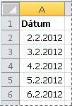 Konvertované dátumy