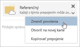 Snímka obrazovky s ponuku Ďalšie akcie