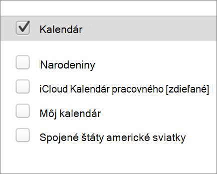 iCloud kalendára v Outlooku 2016 pre Mac