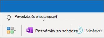 Pridanie poznámok zo schôdze do schôdze v Outlooku
