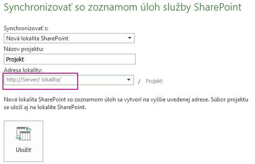 Obrázok Synchronizovať s novou lokalitou SharePoint