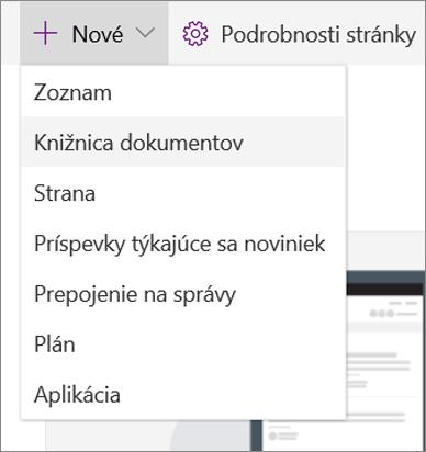SPO_Pridanie zoznamu alebo knižnice