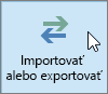 Snímka obrazovky s tlačidlom Importovať alebo exportovať v Outlooku 2016