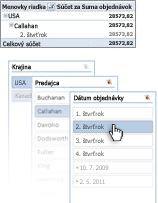 Pás s nástrojmi v Exceli