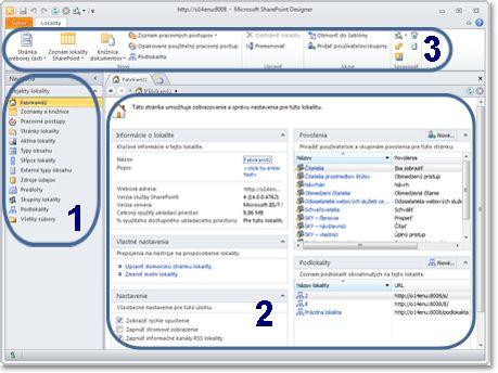 Ilustrácia z programu SharePoint Designer 2010