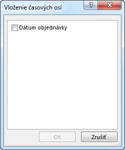 Dialógové okno Vloženie časových osí