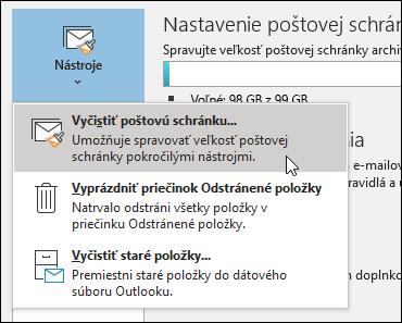 Čistenie poštovej schránky