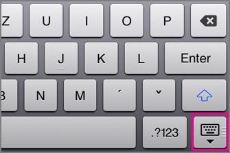 Skrytie klávesnice