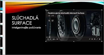 Snímka obsahujúca online video