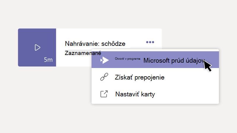 Otvorte záznam v Microsoft Stream možnosť