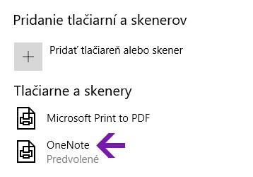 Ponuka na výber umiestnenia poznámkového bloku vo OneNote pre Windows 10