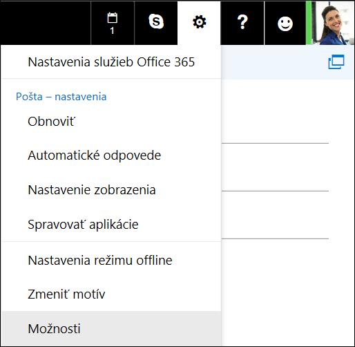 Možnosti nastavenia Outlooku na webe