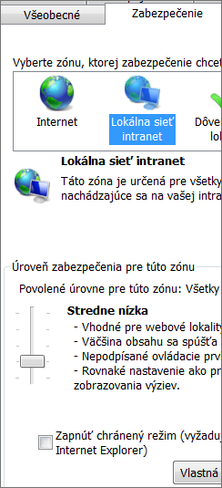 Lokálna intranetová zóna