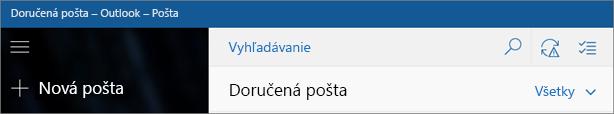 Takto vyzerá aplikácia Pošta pre Windows 10.