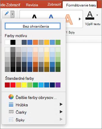 Kliknite na ikonu obrys tvaru