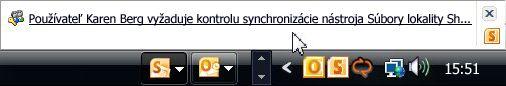 Žiadosť o ovládanie synchronizácie
