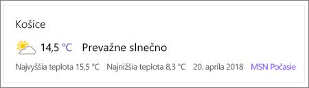 Webová časť počasie