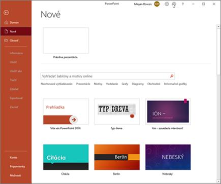 Vytvorenie nového powerpointového súboru