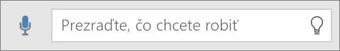 Zobrazenie vyhľadávacieho poľa Chcem zistiť vOffice Mobile