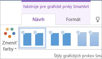 Tlačidlo Zmeniť farby na karte Návrh vnástrojoch pre grafické prvky SmartArt