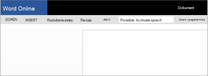 Otvorenie Wordu Online
